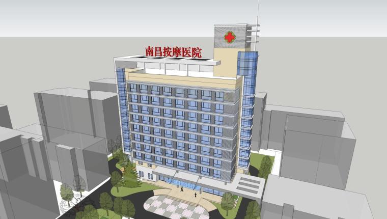医院建筑设计精细sketchup模型14个_5