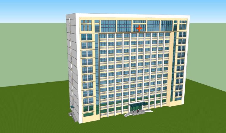 医院建筑设计精细sketchup模型14个_6