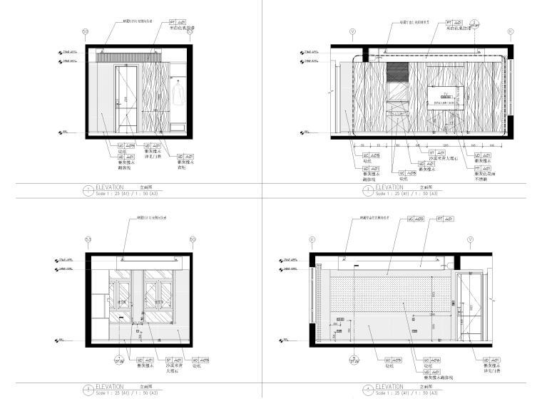 [上海]134㎡现代三居室复式室内装修施工图_6