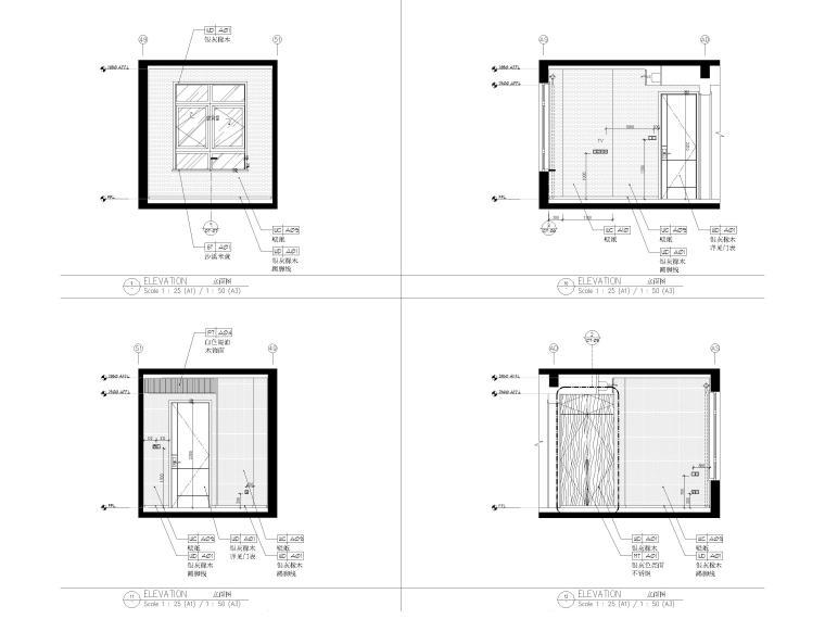 [上海]134㎡现代三居室复式室内装修施工图_7