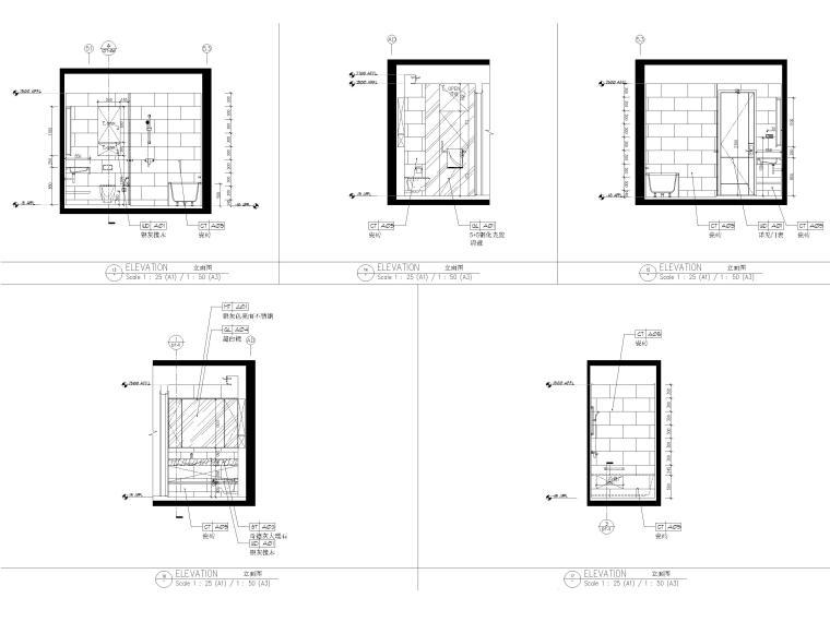 [上海]134㎡现代三居室复式室内装修施工图_8