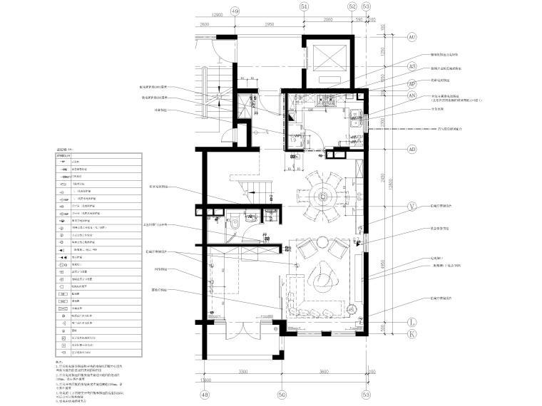 [上海]134㎡现代三居室复式室内装修施工图_4