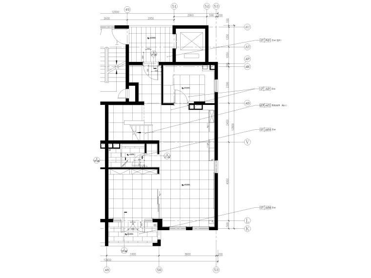[上海]134㎡现代三居室复式室内装修施工图_5