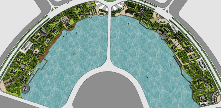 城市广场城市公园设计44个广场公园景观模型_3
