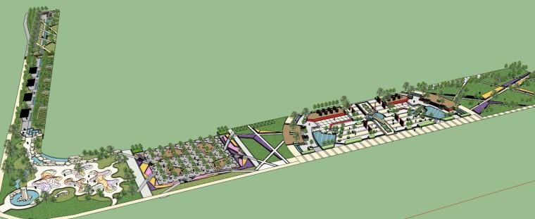 城市广场城市公园设计44个广场公园景观模型_1