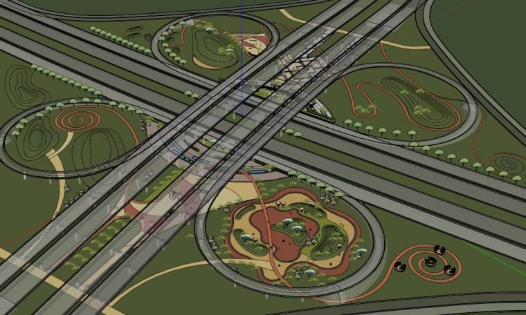 城市广场城市公园设计44个广场公园景观模型_14