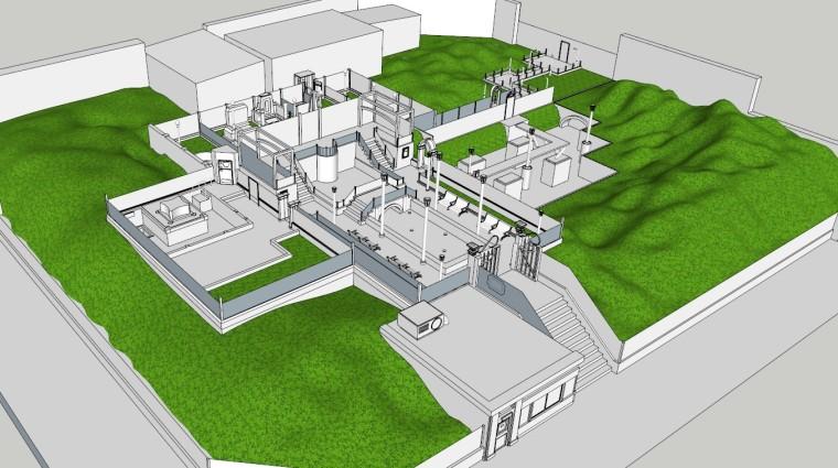 城市广场城市公园设计44个广场公园景观模型_7