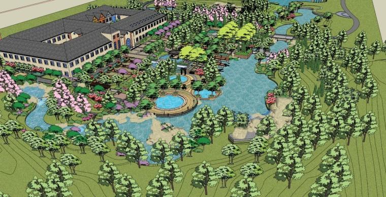 城市广场城市公园设计44个广场公园景观模型_5
