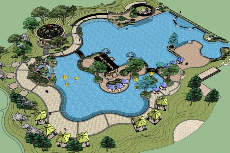 城市广场城市公园设计44个广场公园景观模型_11