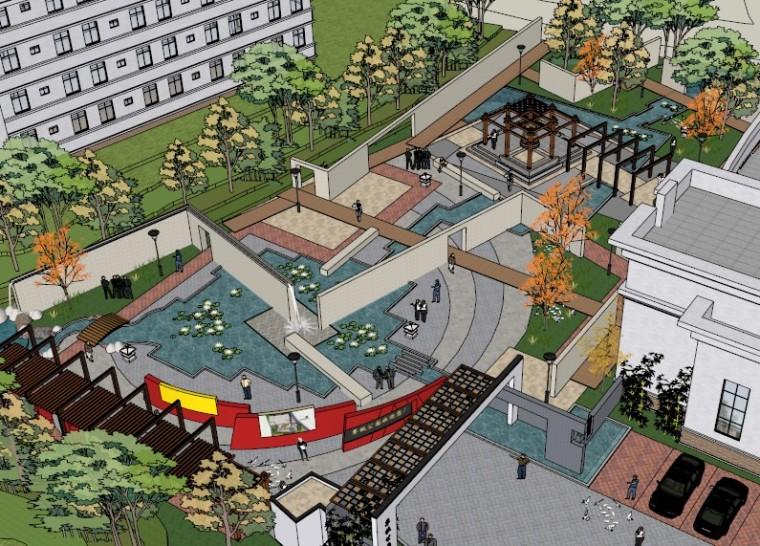 城市广场城市公园设计44个广场公园景观模型_8