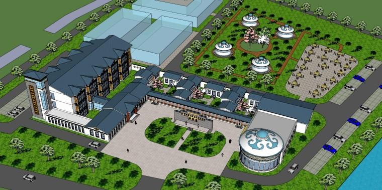 城市广场城市公园设计44个广场公园景观模型_12