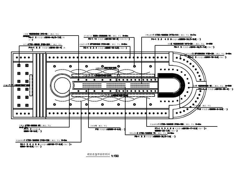 53套泳池喷泉跌水浴场CAD施工图纸_2