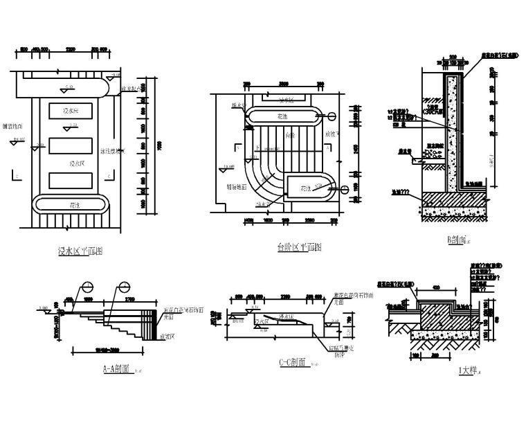 53套泳池喷泉跌水浴场CAD施工图纸_6