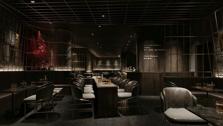 现代暗色调餐厅酒吧3D模型+效果图_2