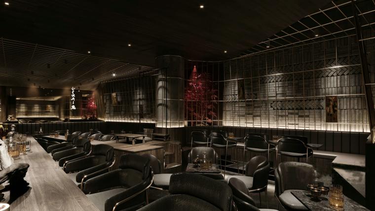 现代暗色调餐厅酒吧3D模型+效果图_4