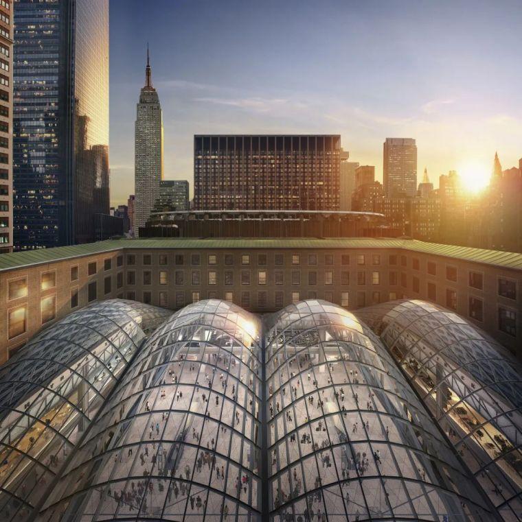 纽约莫伊尼汉车站列车大厅正式投入运营_5