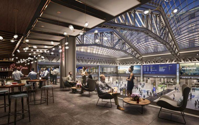 纽约莫伊尼汉车站列车大厅正式投入运营_10
