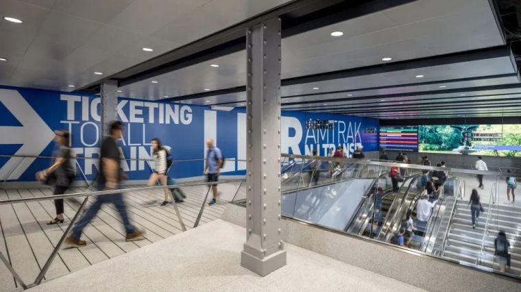 纽约莫伊尼汉车站列车大厅正式投入运营_12