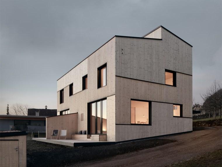 奥地利山坡上的复式住宅_1