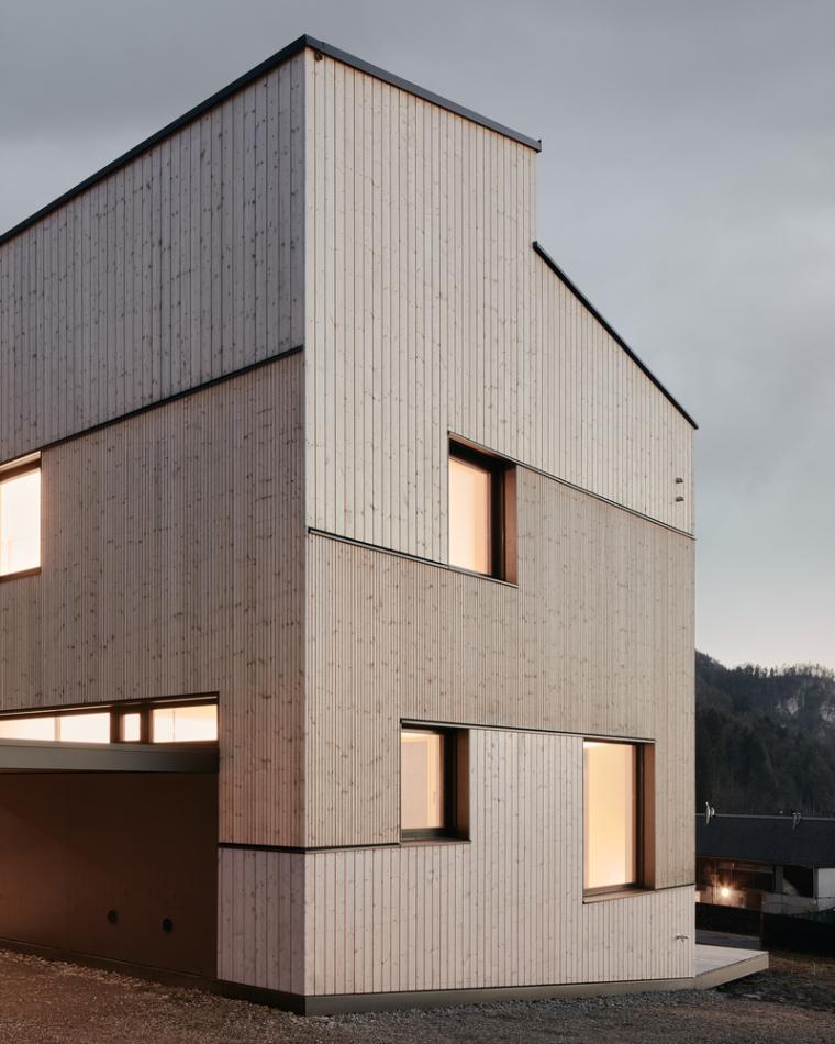 奥地利山坡上的复式住宅_3
