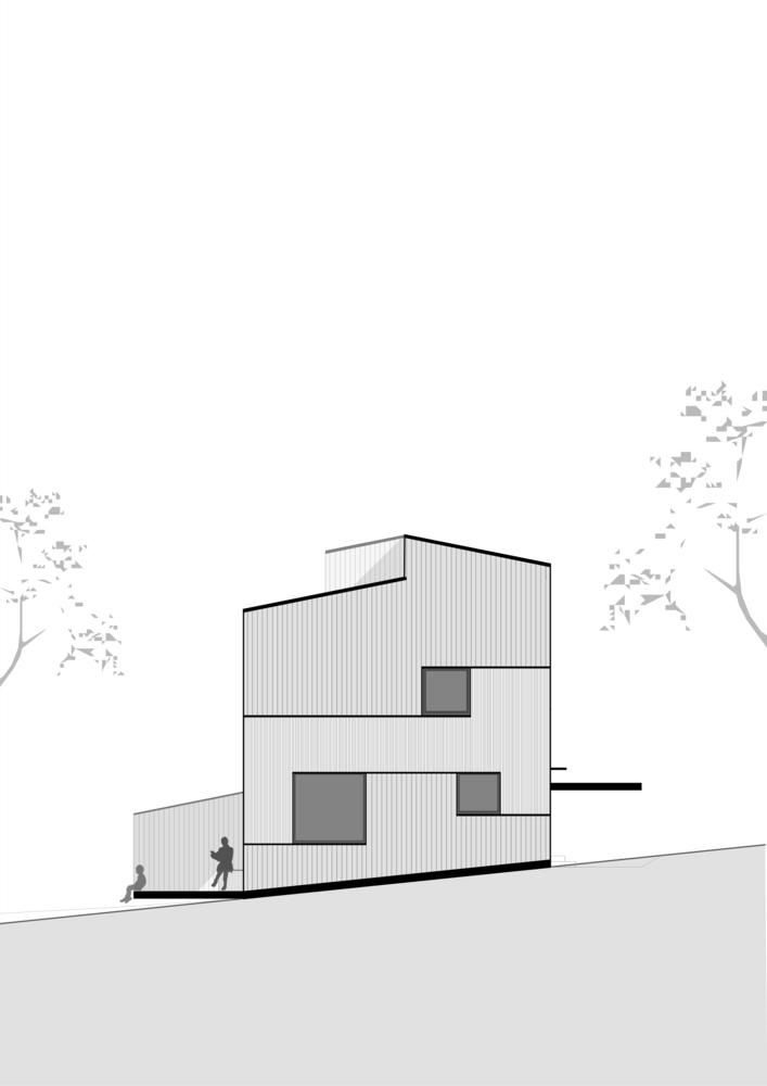 奥地利山坡上的复式住宅_18