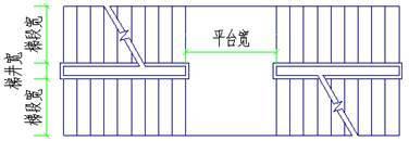 CAD制图初学入门:CAD软件中怎么画交叉楼梯_3