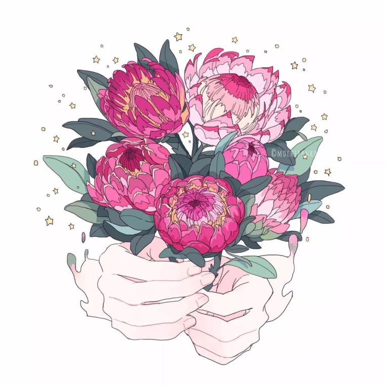 呐,送你一束最美的花!_5