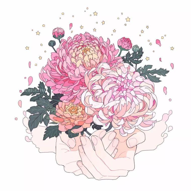 呐,送你一束最美的花!_6