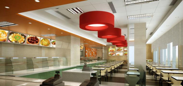快餐厅设计案例效果图_3