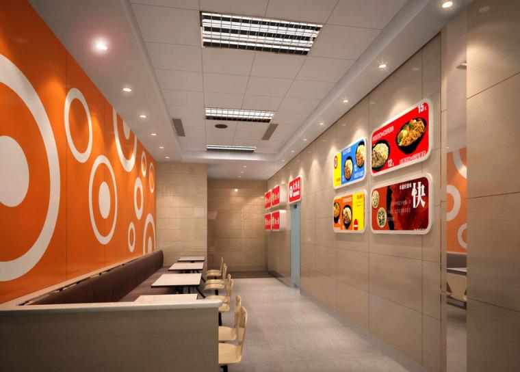 快餐厅设计案例效果图_1