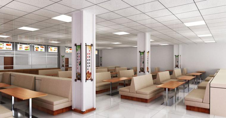 快餐厅设计案例效果图_13