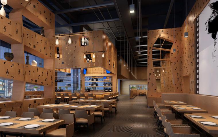 快餐厅设计案例效果图_16