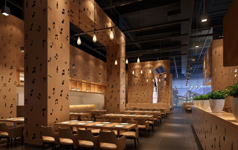 快餐厅设计案例效果图_17