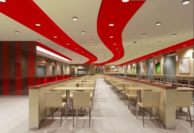 快餐厅设计案例效果图_12