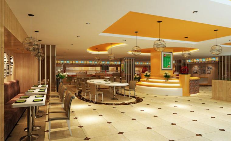 快餐厅设计案例效果图_5