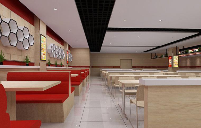 快餐厅设计案例效果图_18