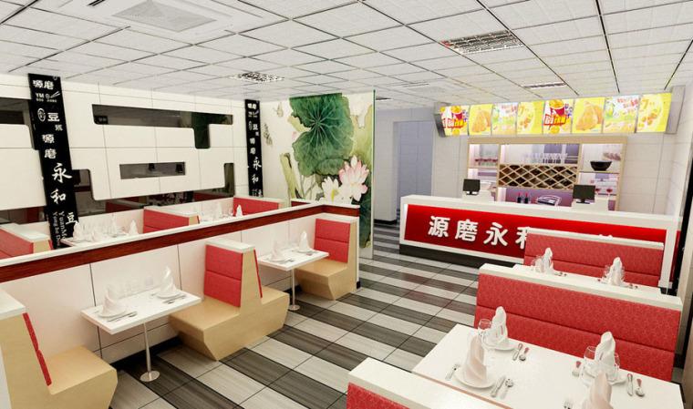快餐厅设计案例效果图_7