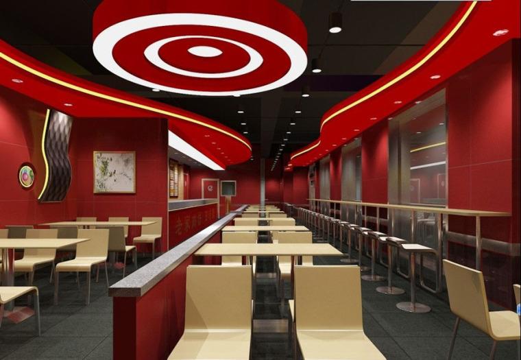 快餐厅设计案例效果图_8