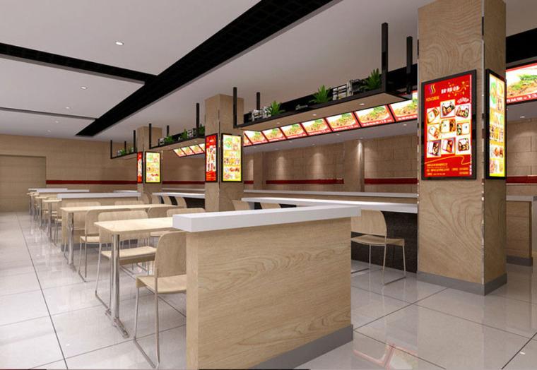 快餐厅设计案例效果图_19