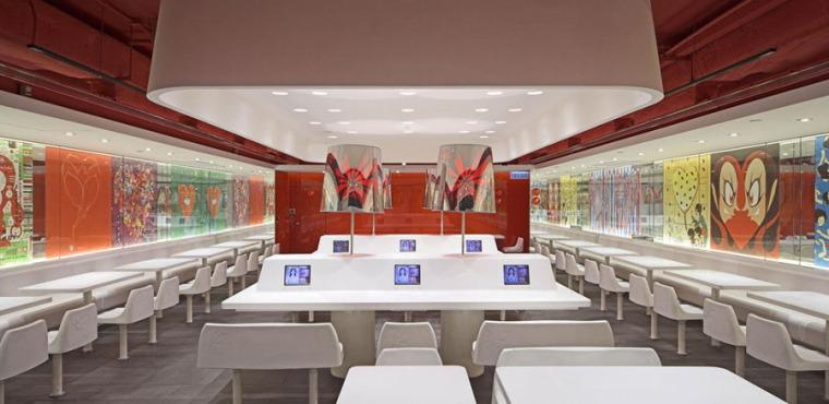 快餐厅设计案例效果图_6