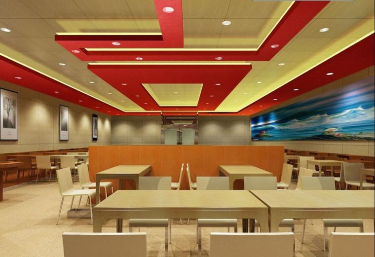 快餐厅设计案例效果图_9