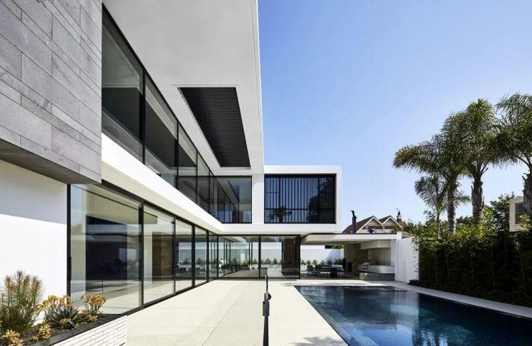 超开放设计+无边泳池,极简别墅真是绝了!_27