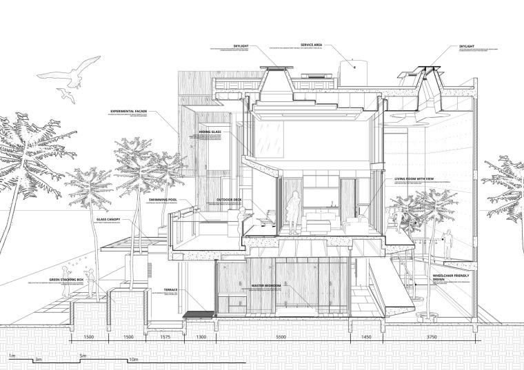 印尼自然采光实验性住宅/RAD+ar-m7 _section_d.jpg