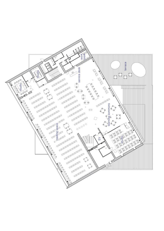 Librio行桥:扭转与堆叠/三上建筑事务所-m3 3rd floor plan.jpg