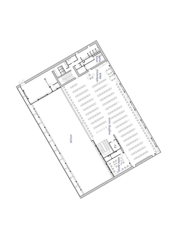 Librio行桥:扭转与堆叠/三上建筑事务所-m4 4th floor plan.jpg