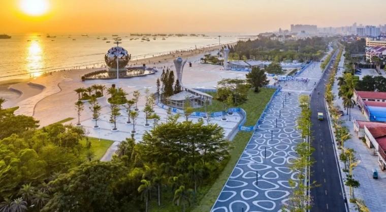 广西北海银滩四号路旅游生态区改造_2