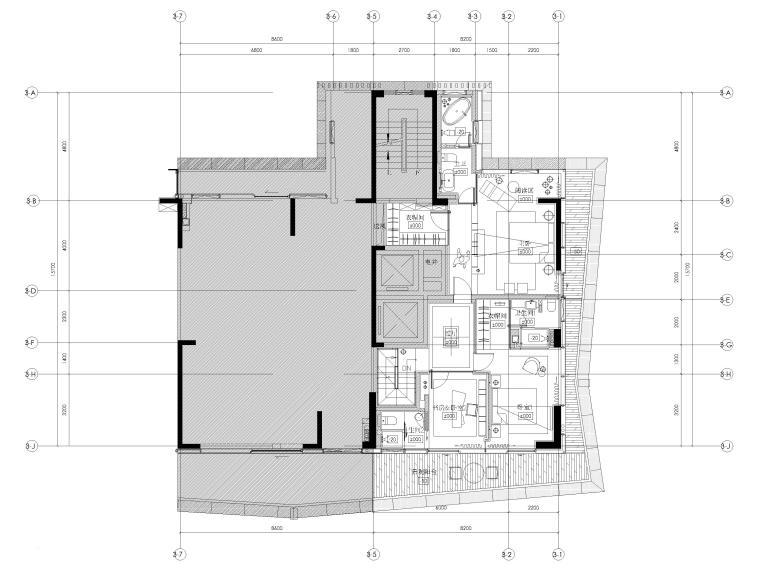 [深圳]九榕台185㎡二居室复式样板间施工图_6