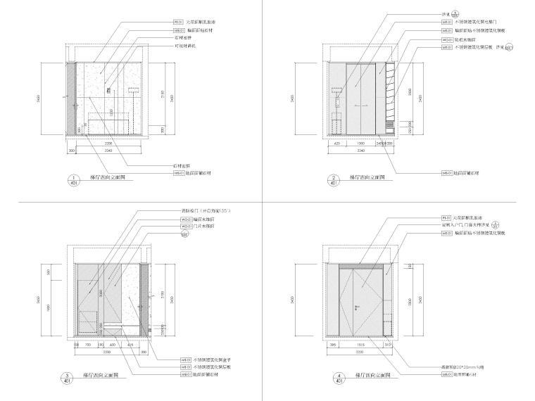 [深圳]九榕台218㎡三居室家装样板间施工图_6
