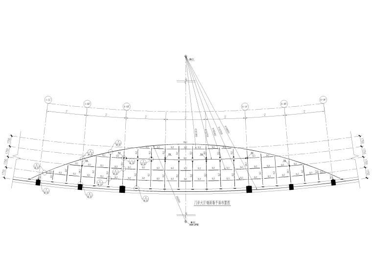 拉杆钢雨篷结构施工图2017(CAD)_1