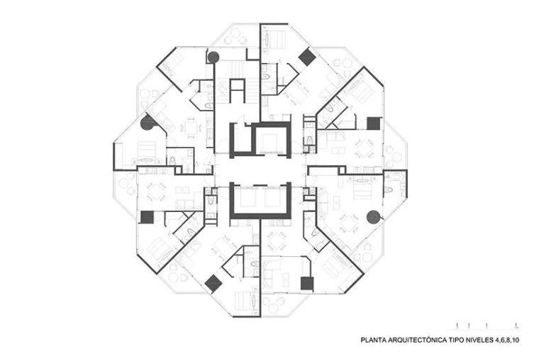 """""""八角形""""高层公寓建筑_10"""